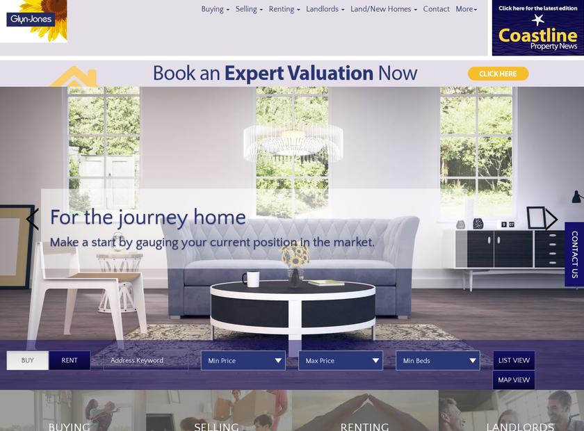 Glyn-Jones & Company homepage screenshot