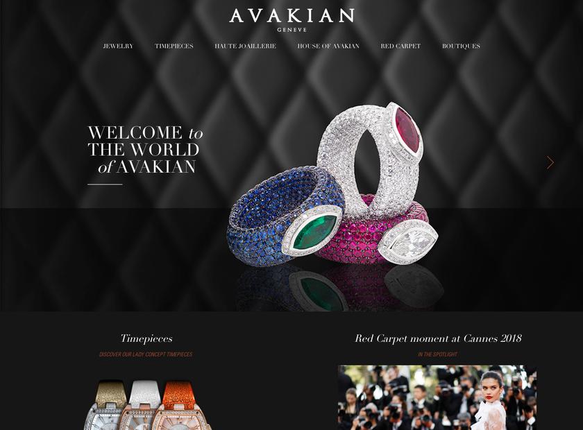 Avakian homepage screenshot