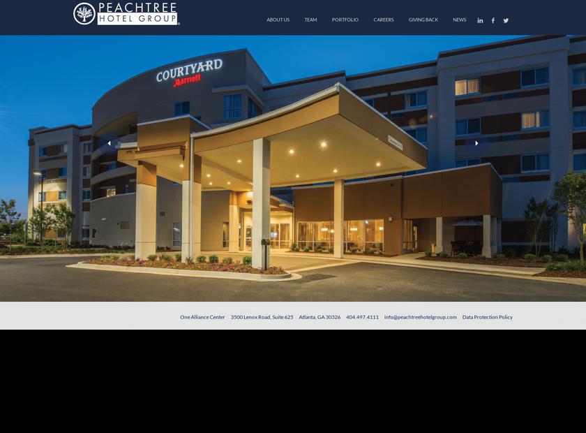 Peachtree Hotel Group LLC homepage screenshot