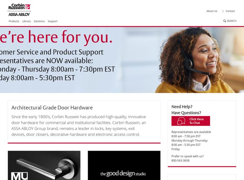 Corbin Russwin Inc homepage screenshot