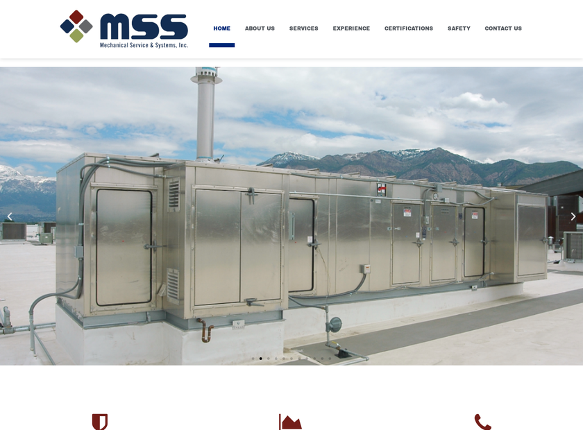 Mechanical Services and Systems Inc homepage screenshot