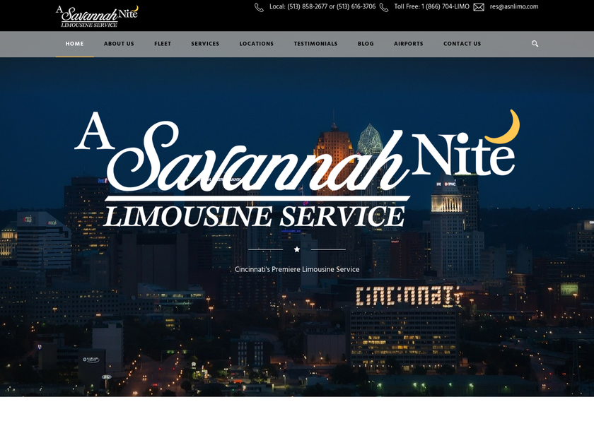Savannah Nite homepage screenshot