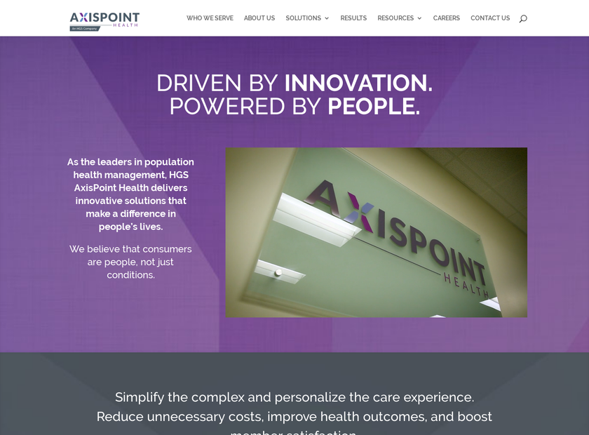 AxisPoint Health homepage screenshot
