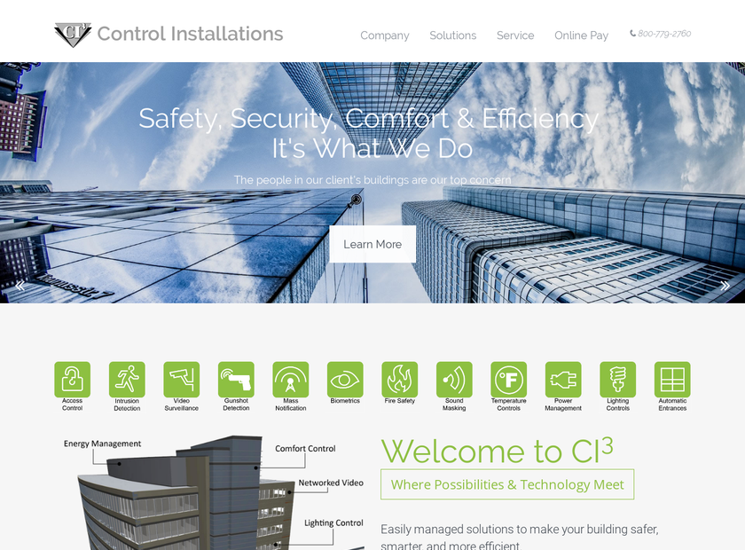 Control Installations of Iowa , Inc. homepage screenshot