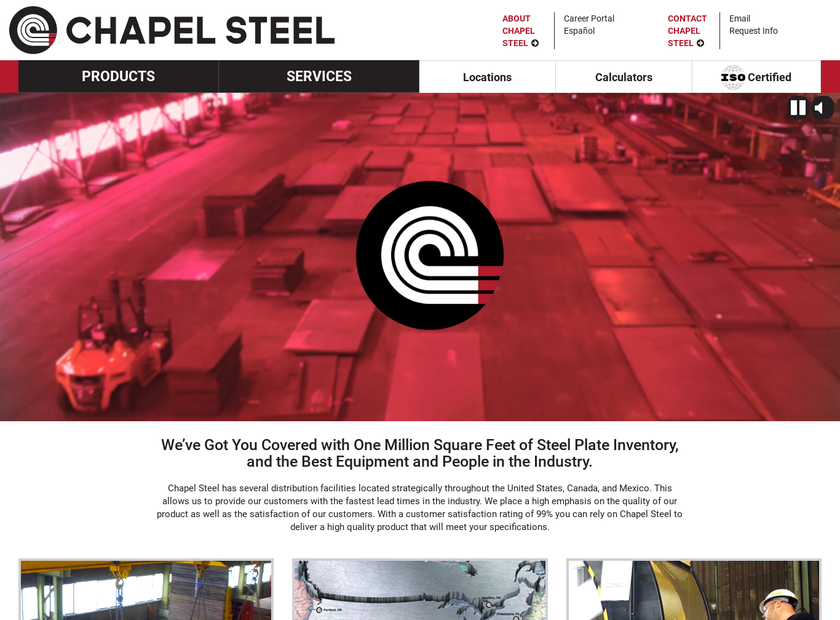 Chapel Steel Corp. homepage screenshot