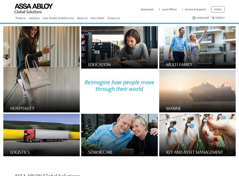 ASSA ABLOY Hospitality Inc. homepage screenshot