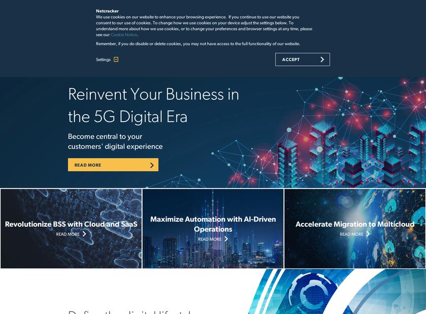 NetCracker Technology Corp homepage screenshot
