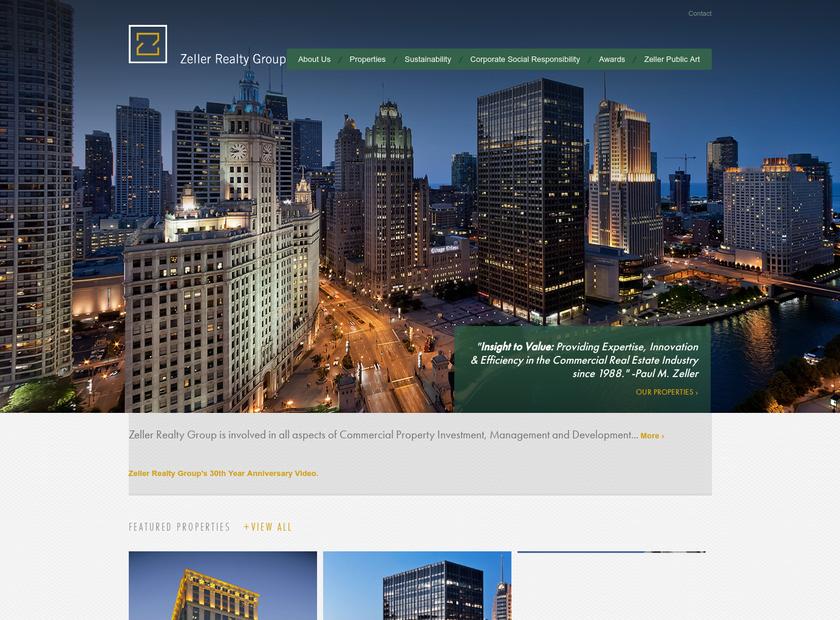 Zeller Realty Group Inc homepage screenshot