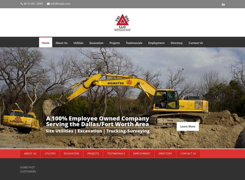 Tri Dal Ltd homepage screenshot