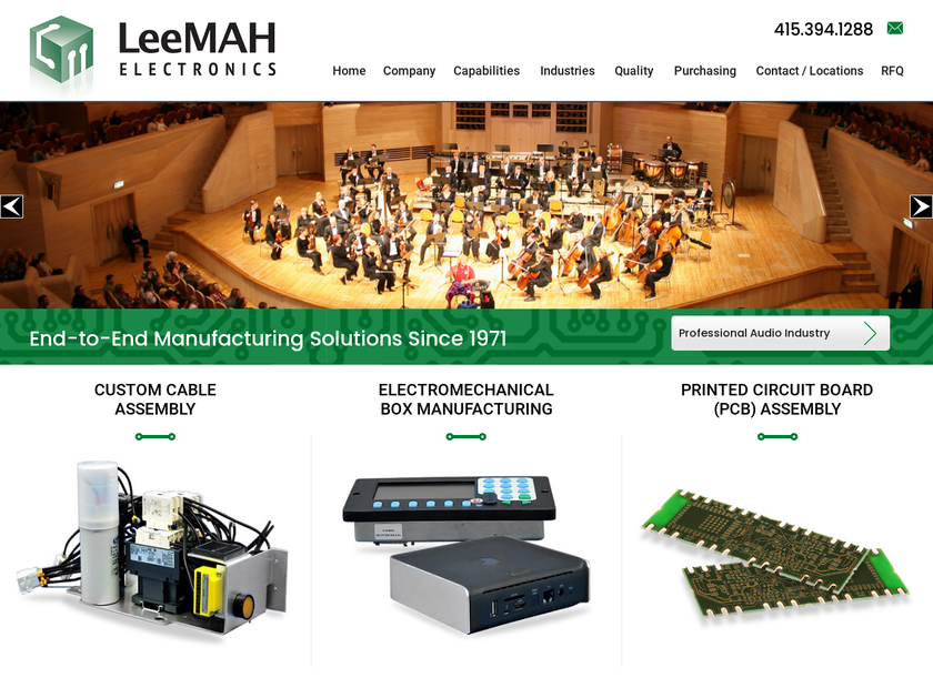 LeeMAH Electronics Inc homepage screenshot
