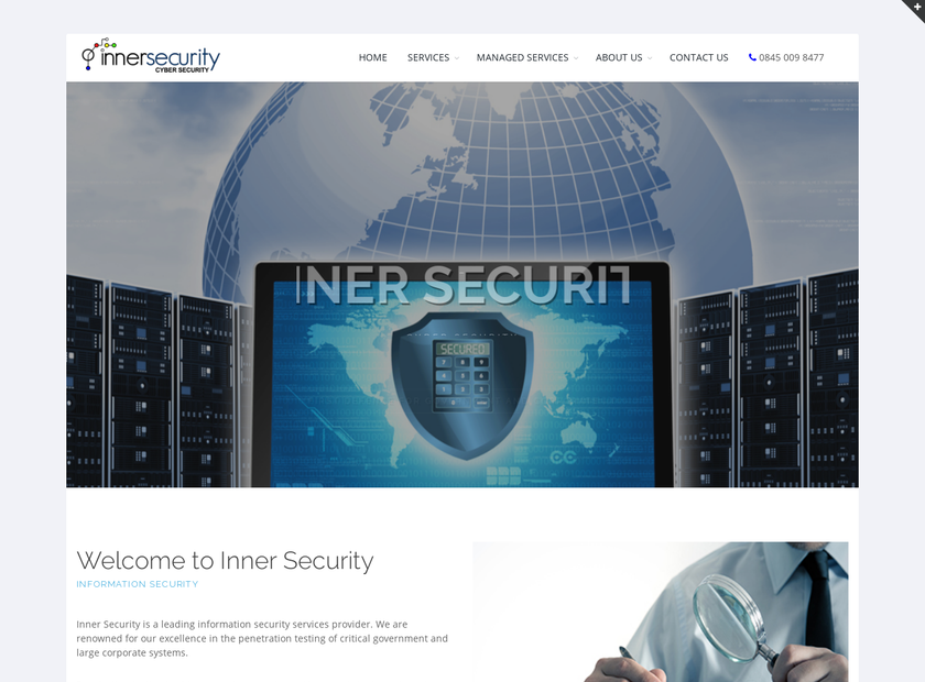 Inner Security homepage screenshot