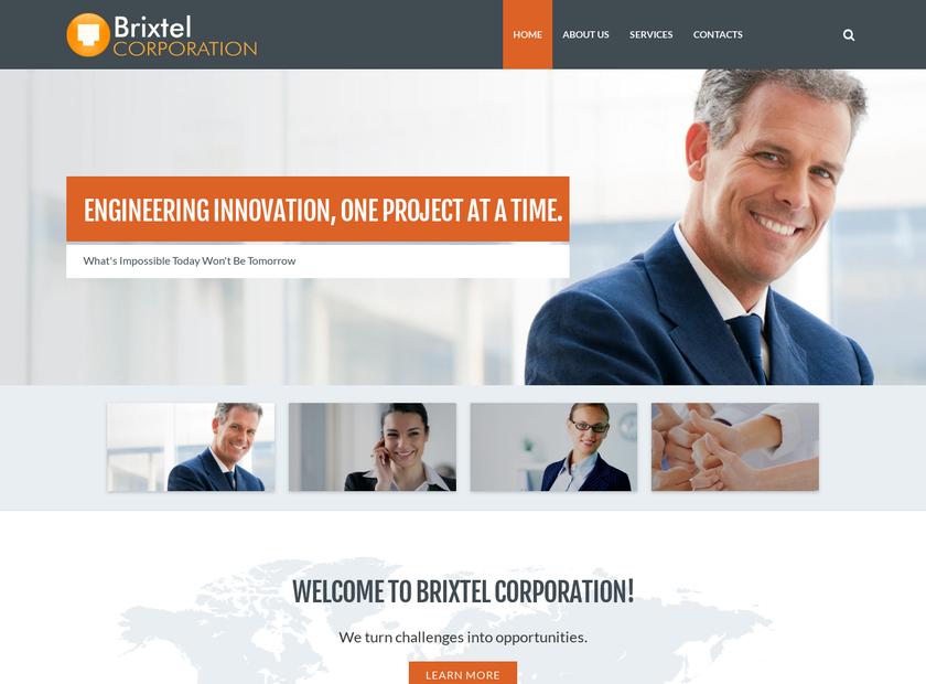 Brixtel Corporation homepage screenshot