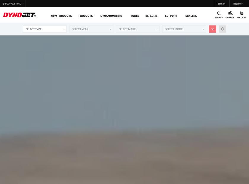 Dynojet Research Inc homepage screenshot