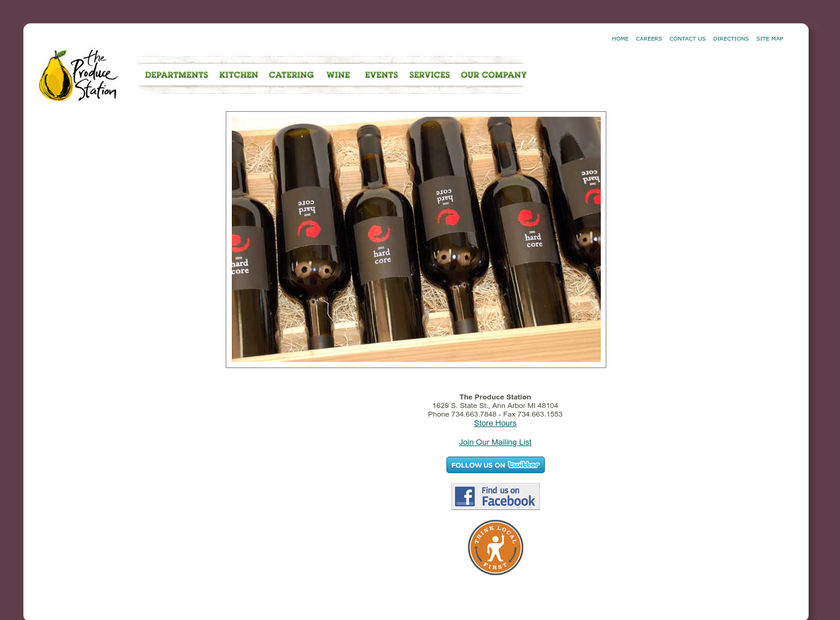 The Produce Station homepage screenshot
