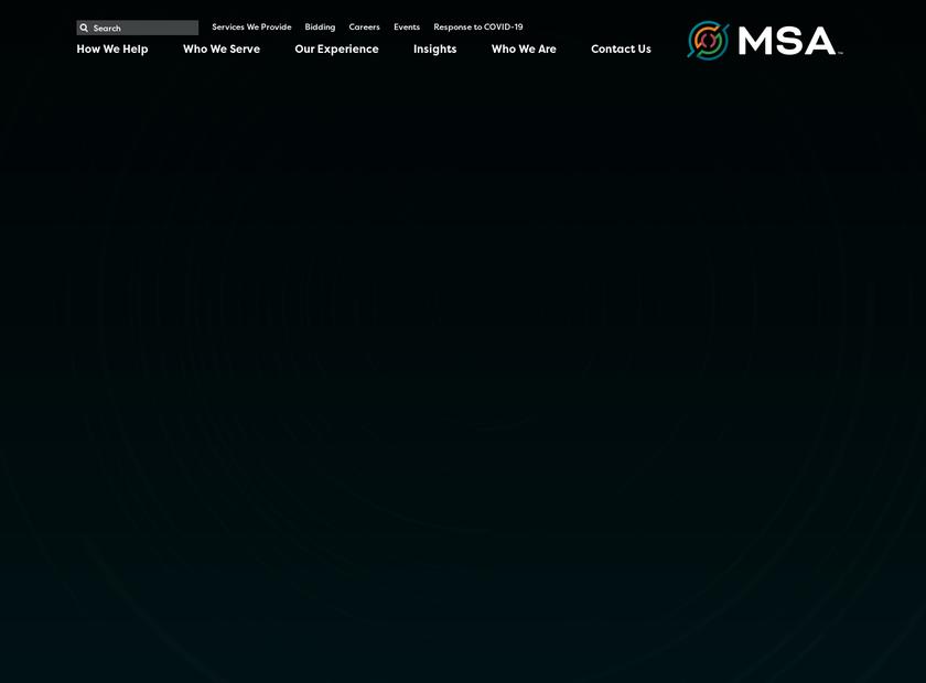 MSA Professional Services Inc homepage screenshot