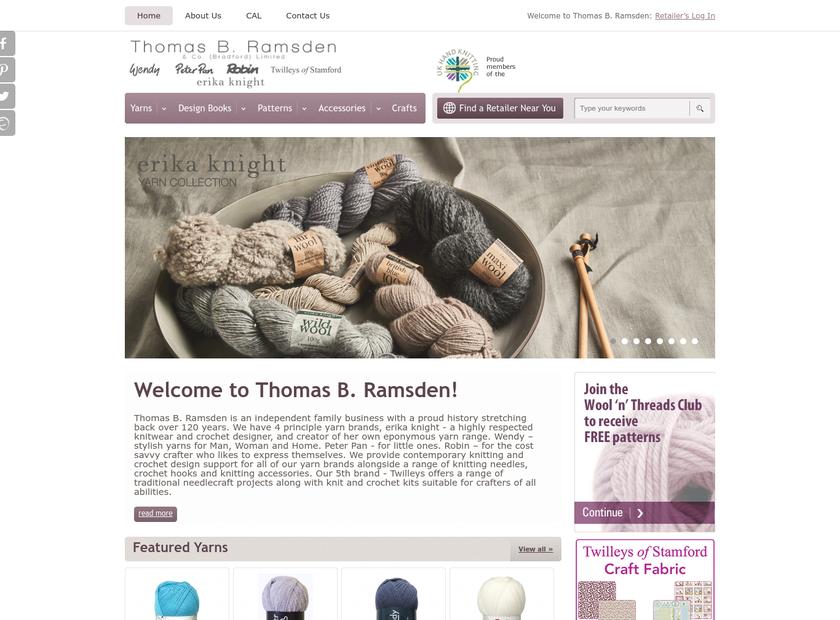 Thomas B. Ramsden & Co. (Bradford) Ltd. homepage screenshot