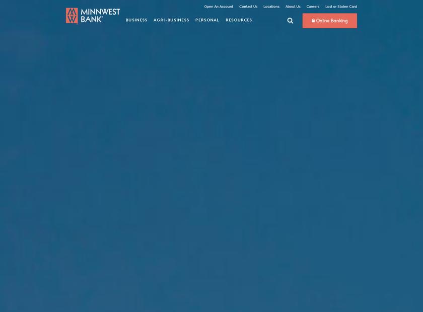 Minnwest Bank homepage screenshot