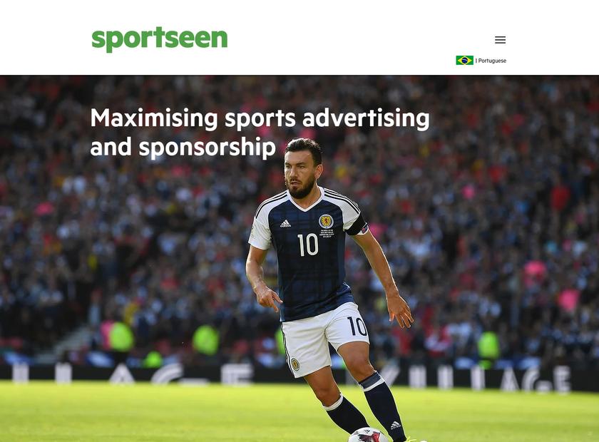 Sportseen homepage screenshot