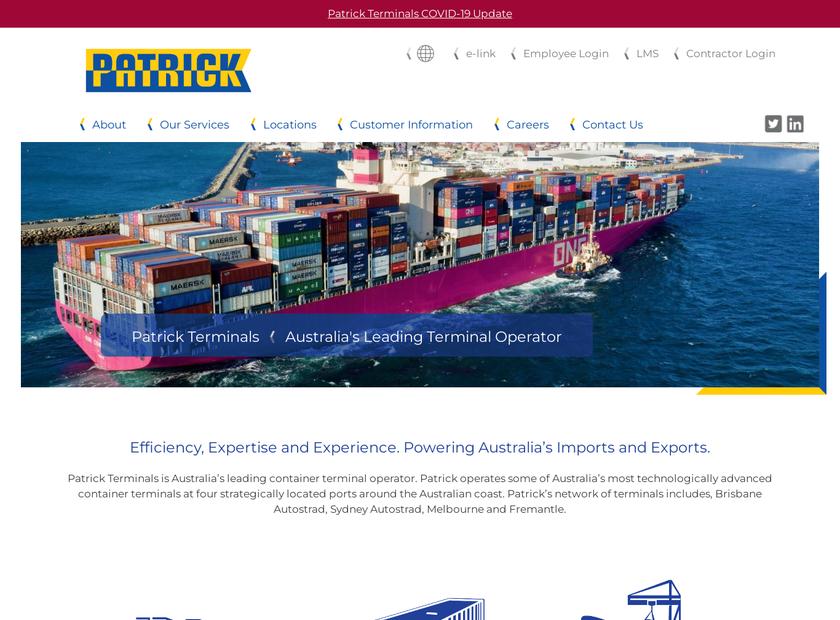 Patrick Logistics homepage screenshot