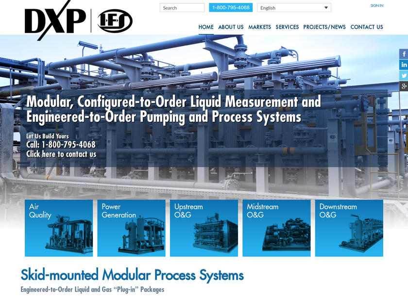 Integrated Flow Solutions Inc homepage screenshot