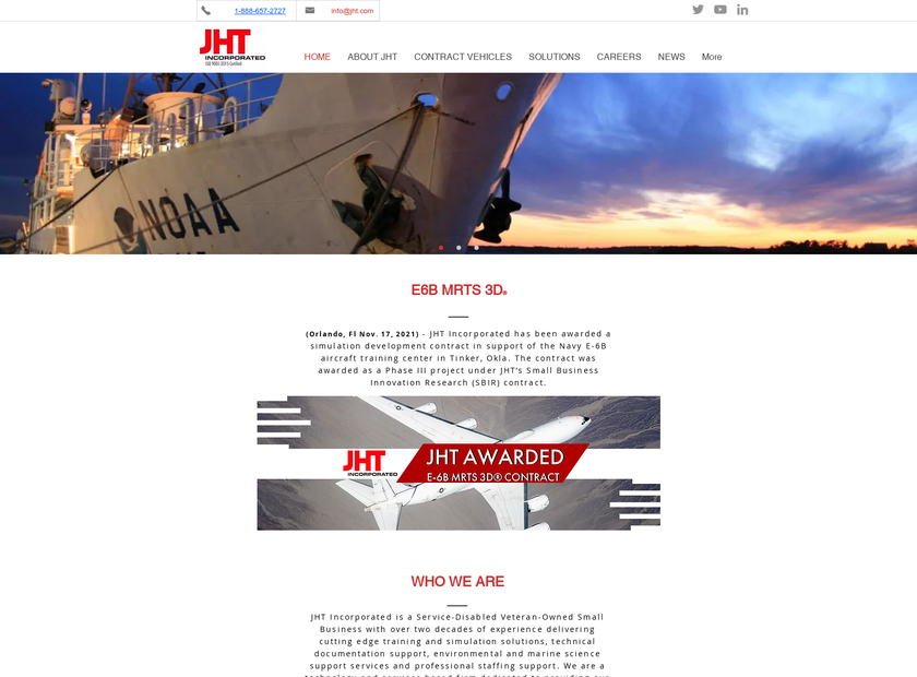 JHT Inc homepage screenshot