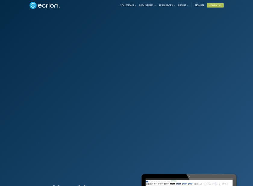 Ecrion Software Inc homepage screenshot