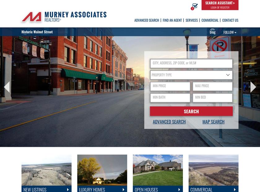 Murney Associates Realtors homepage screenshot