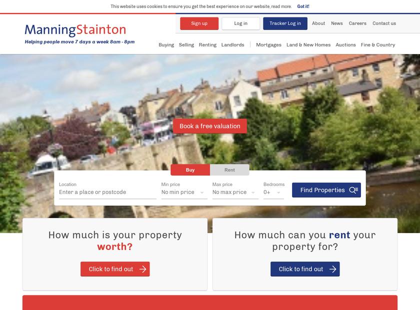 Manning Stainton homepage screenshot