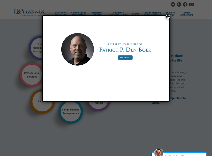 QPharma Inc homepage screenshot