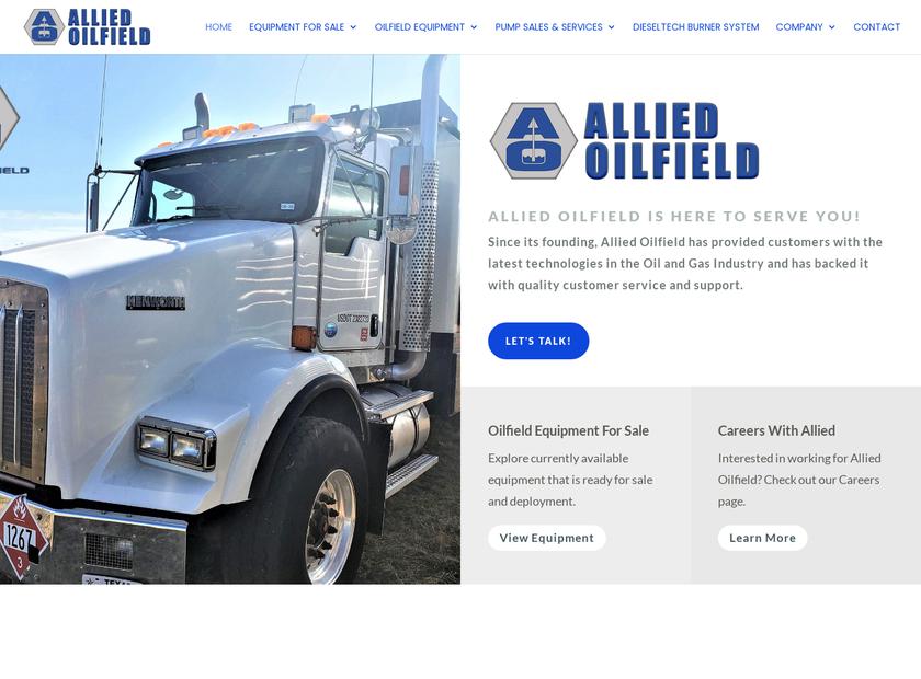 Allied Oilfield homepage screenshot