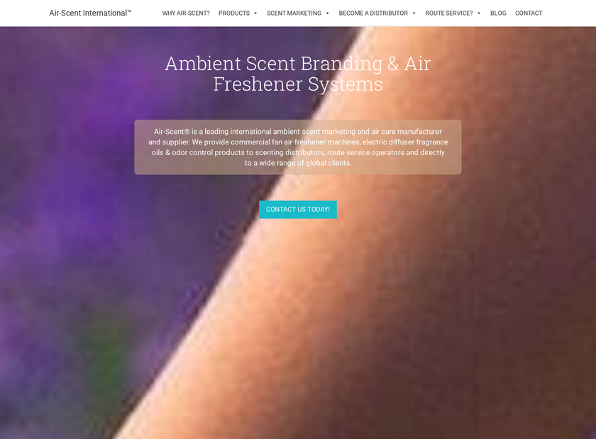 Air-Scent International homepage screenshot
