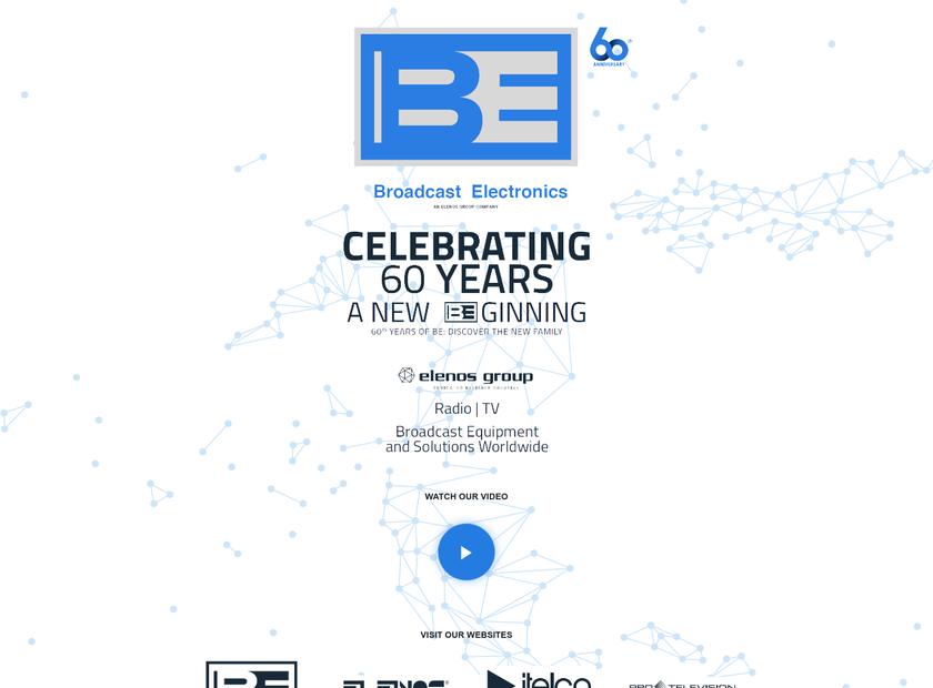 Broadcast Electronics Inc homepage screenshot