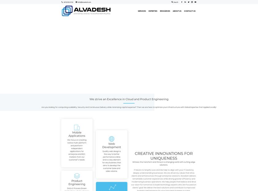 Alvadesh Technologies Solutions LLC homepage screenshot