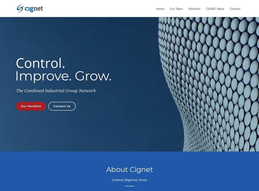 Cignet , LLC homepage screenshot