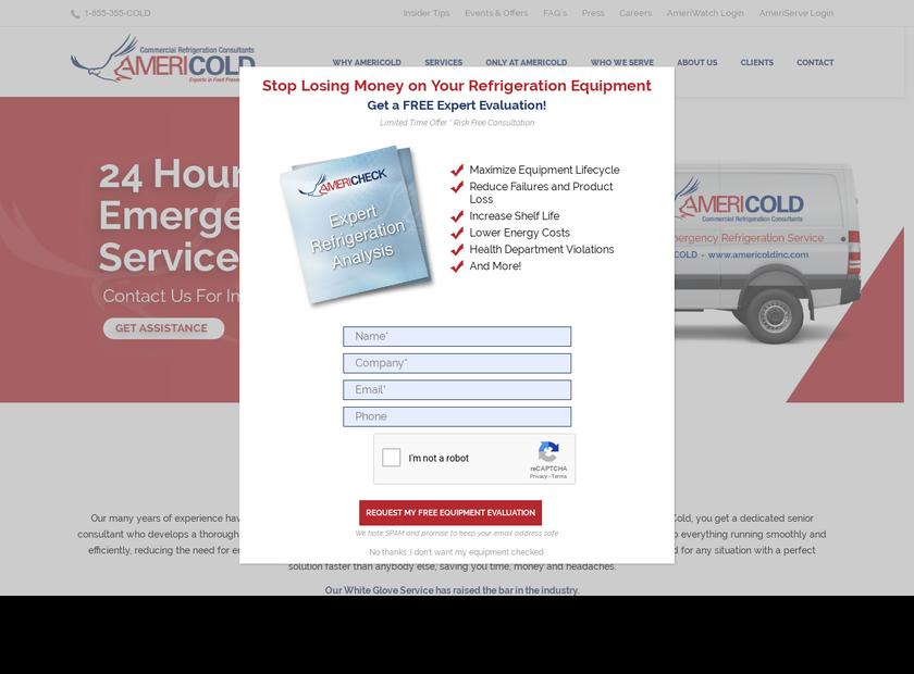 Americold Inc homepage screenshot