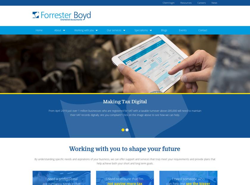 Forrester Boyd homepage screenshot