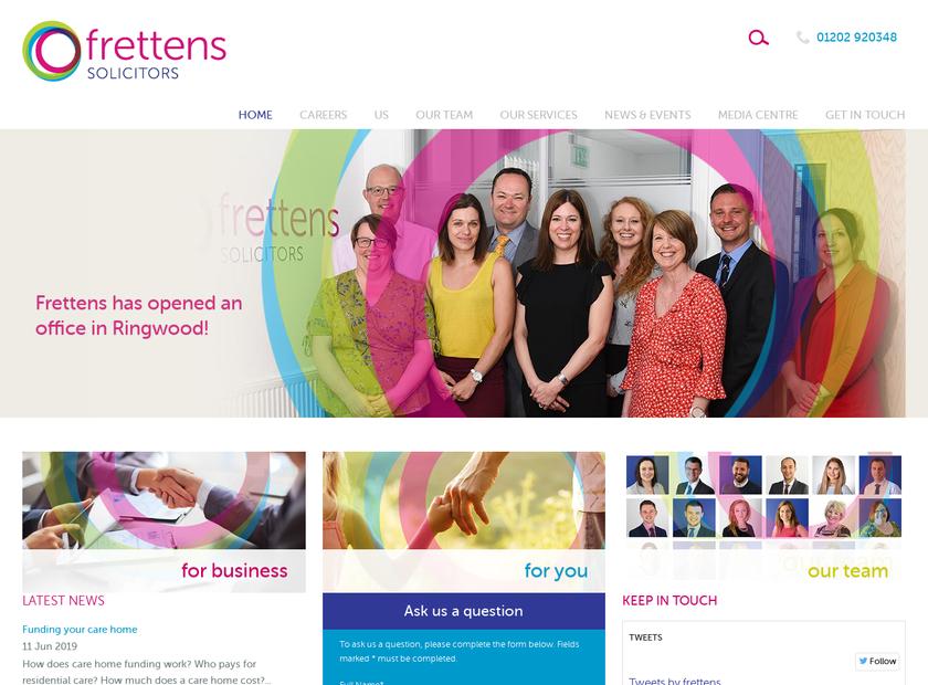 Frettens LLP homepage screenshot