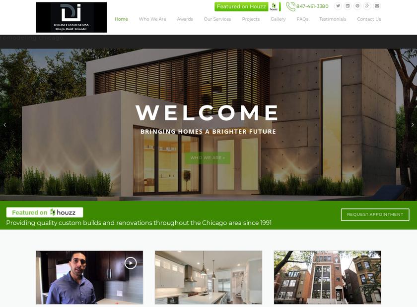 Dynasty Innovations llc homepage screenshot