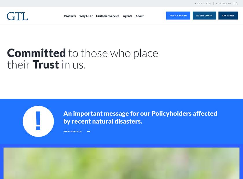 Guarantee Trust Life Insurance Company homepage screenshot