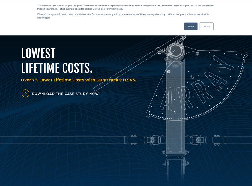 Array Technologies Inc homepage screenshot