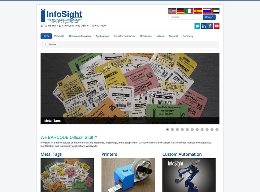 InfoSight Corporation homepage screenshot