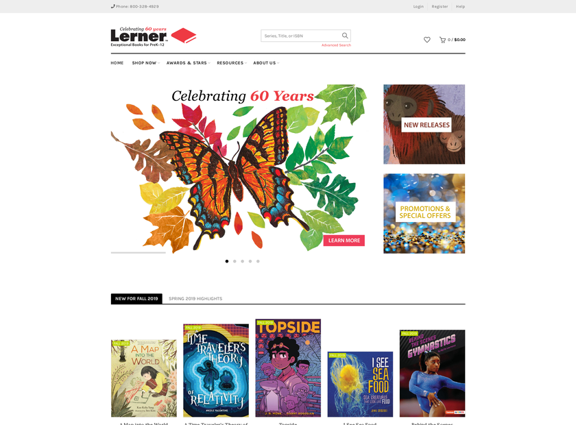 Lerner Publishing Group Inc homepage screenshot