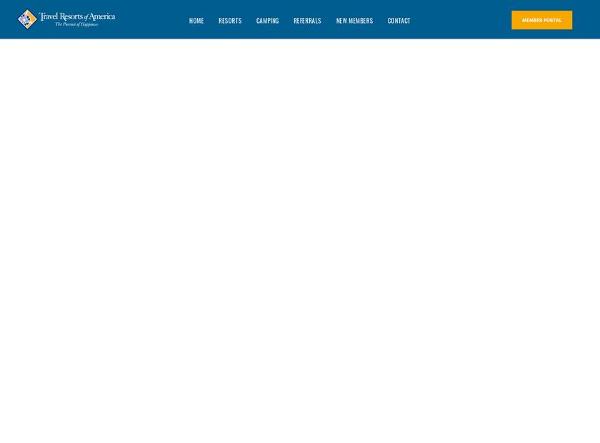 Travel Resorts homepage screenshot