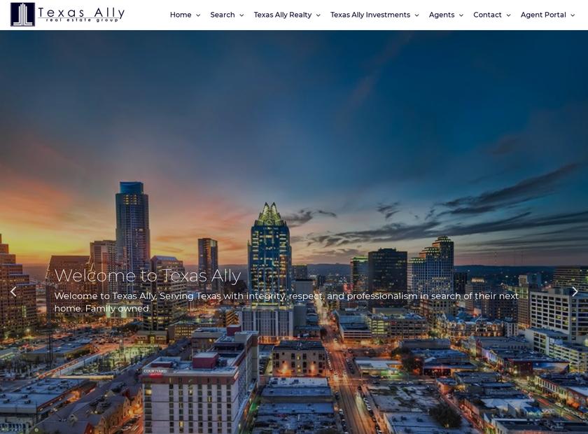 Texas Ally Real Estate Group LLC homepage screenshot