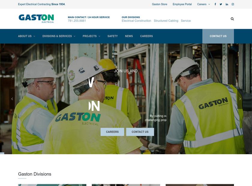 Gaston Electrical Co., Inc. homepage screenshot