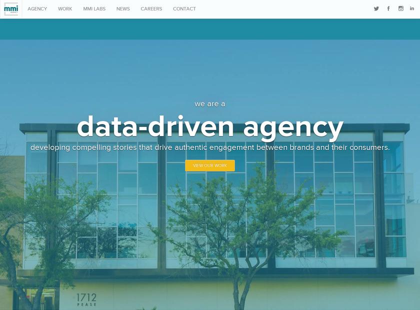 MMI Agency homepage screenshot