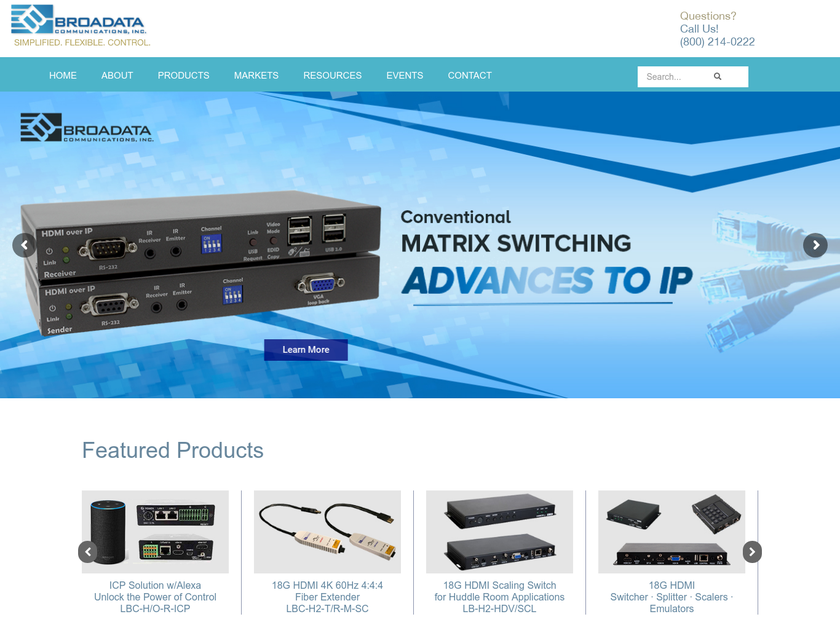 Broadata Communications Inc homepage screenshot