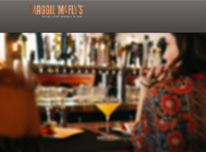 Maggie McFly homepage screenshot
