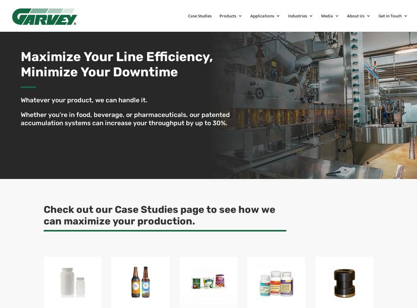 Garvey Corporation homepage screenshot