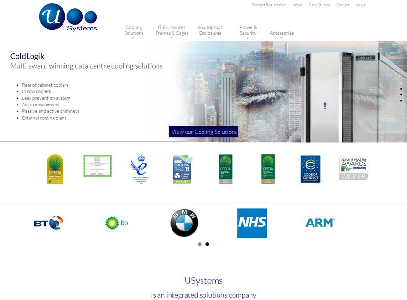 USystems Ltd homepage screenshot